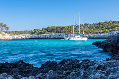 Cala Mondrago (gatisrudins) Tags: calamondrago beach mallorca yacht longexposure daylight blue sea spain mediterranian