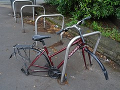 Dead bike (stillunusual) Tags: manchester mcr city england uk withington manchesterstreetphotography streetphotography street urban urbanscenery bike bicycle cycle deadbike abandoned sad 2017