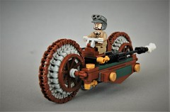 Steampunk  motorcycle - The gentleman (adde51) Tags: foitsop adde51 lego moc steampunk motorcycle gentleman vehicle vehicles mc aristocrat wheel technique illegal