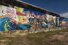 Street Art in Ludington (DJ Wolfman) Tags: ludington ludingtonmi murals michigan michiganfavorites micro43 blue colorful color olympuspenf olympus penf 12mmf20 zuiko zd streetart