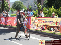 Wooden Bicycle Race - Bicycle Song Music Caravaan Mannheim Germany (olympicsong) Tags: monnem bike song zwei räder 200 jahre years bicycle fahrrad mannheim music caravan karl drais 1817 2017 draisine technoseum cycle benz quadrate q7 q6 stadtquartier planken cycling road das rad patent draus erfinder veloziped laufmaschine