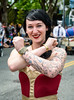 Joe Tym_2017_-4583 (Ding Zhou) Tags: fremont fremontsolsticeparade seattle usa wa washingtonstate bicycleparade bodypainting nude onfoot parade portrait