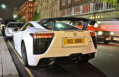 Lexus LF-A (Jack de Gier) Tags: london uk knightsbridge mayfair belgravia sloanestreet harrods lexus lfa supercar hypercar worldcar sportscar limited rare v10 v10nbr nbr10 white night horsepower nikon exotic unique nürburgring edition