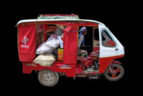 China - Yunnan - Dali - Auto Rickshaw Tricycle - 1d
