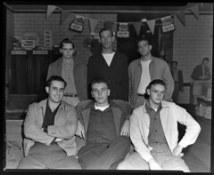 91.47.0551 6 young men at bus station_positive (MassMu Collections & Archives) Tags: transporation bus busterminal buses vehicle massillon museum ohio
