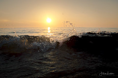 300 (Fredrik Lindedal) Tags: ocean cyprus cypern visitcyprus beach water wave splash sun sunlight sunrise sunbeam reflection mediterranean sky skyline nikon lindedal fredriklindedalse rocks