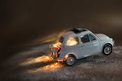 sgommata!! (Antonio Iacobelli (Jacobson-2012)) Tags: fiat 500 sgommata skid acceleration model fire smoke bari nikon d800 nikkor 60mm car