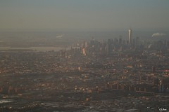 Coucher sur New York (mars-chri) Tags: avion newyork amérique manhattan