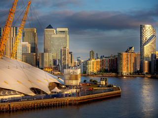 Sunrise over Canary Wharf (Explored)