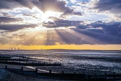 Sun Rays (tanyalinskey) Tags: 7dwf rays water sea sunrays seascape sky sunset beach allhallows
