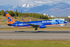 SCX B738 N821SY PANC 05-20-17 (Stratoflight Photography) Tags: suncountryairlines boeing 737800 7378fhwl n821sy anchorage alaska pancanc