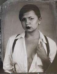 Bee (Maria Gruschzak) Tags: wetplate tintype portrait vancouver photographer genderbender masculine female
