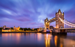 Tower Bridge and the Tower of London at Dusk (mark.iommi) Tags: towerbridge toweroflondon london thetower thethameslong exposurecity scapearchitecturecity lights dusk bluehour pentaxart