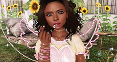 picking sunflowers closeup (lunarlieanzac) Tags: amarabeauty catwa cheekypea collabor88 cute drastic epic hazy jian kawaii maitreya n21secondlife nani nature okkbye pets people pingpong reign secondlife sl stardust summer tableauvivant thesugargarden zombiesuicide