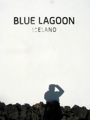 my shadow at blue lagoon (kexi) Tags: iceland europe reykjavik bluelagoon shadow photographer white vertical text smasung wb690 may 2016 black instantfave
