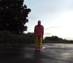 Pretty Sissy In Pink (KinkyInTheRain) Tags: rainwear pink farmerrain forcedfeminization daiper chastity gay gummistøvler publichumiliation