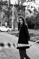 Alexandra (ivankopchenov) Tags: girl portrait cute canon beautiful natural model mood people face dark fineart soft shadow noir light eos young lonely hair warm sensual gentle cinematic grain depthoffield art black eyes reflection blackandwhite white monochrome cold fashion city street spring