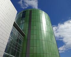 The Green Library (Ian Robin Jackson) Tags: library green sky cloud blue sony june aberdeen university