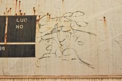 TSA (98) (TheGraffitiHunters) Tags: graffiti graff street art freight train tracks benching benched hopper moniker streak markal solo artist tsa 1998 98 ribbet