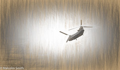 The Chinook (M C Smith) Tags: pencil drawing pentax k3ii helicopter chinook
