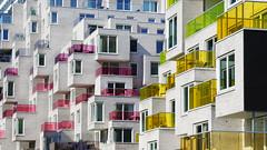 - Summertime - (Jacqueline ter Haar) Tags: amsterdam zuidas summertime appartementen colourful kleurig balconies mahlerlaan gershwinlaan getrapt kleuren balkons