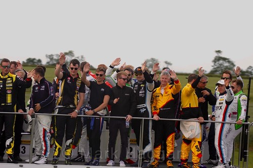 The BTCC Drivers' Parade at Croft, June 2017