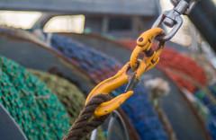 Boaty bits (OzzRod) Tags: sony nex5t meyeroptikgörlitztrioplan100mmf28 commercial fishing nets shackles trawler equipment bokeh bermagui