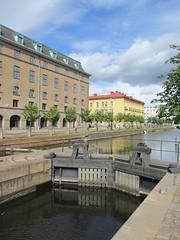 Canal lock on Slussgatan, Gothenburg, Sweden (Paul McClure DC) Tags: gothenburg sweden sverige july2015 göteborg historic architecture