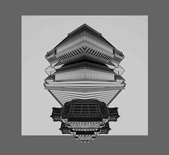 Japanese UFO (jpgmike) Tags: fareast japanese japan spaceship atliens aliens atl atlanta grayscale design architecture ufo city urban border space outerspace fantasy futurism cyber scifi sciencefiction bnw bw blackandwhite