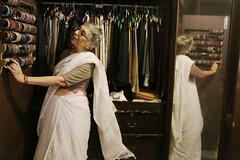 A Woman in the Privacy of Her Boudoir (Mayank Austen Soofi) Tags: delhi walal sari manju kapur boudoir