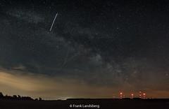Milchstraße und ISS (frank_landsberg) Tags: 2017 eifel vogelsang miichstrase sterne milkyway stars iss