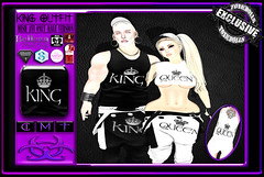 [TD] King Outfit (.☣.†ᴏxɪᴄÐᴏɪɪs.☣.) Tags: outfit couple belleza toxic toxicdolls top tank bottoms baggys product pants hat baseball cap fashion fitted fitmesh secondlife slink sl signature aesthetic tmp gianni