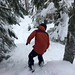 Marc in the Tress on a powder day