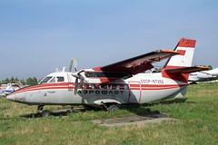 CCCP-67252 LET L-410A Turbolet Aeroflot (pslg05896) Tags: ulv uwll ulyanovsk baratayevka russia cccp67252 let l410 turbolet aeroflot