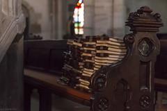 Église du Vieux Hombourg (57) année 1272 (isabellechanty) Tags: kirchen church priest silence 70d canon god dieu cathedrale religion priere intérieur siège bank banc eglise livre book
