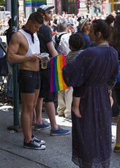 094A0105 v2 (Wheels Down) Tags: gay pride parade 2017 hottie muscle cutoffs streetphotography candid nyc sneakers shortshorts shorts midriff legs arms handsome pflag tanktop converse