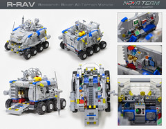 R-RAV - Research - Rover All-Terrain Vehicle (Agaethon29) Tags: lego afol legography brickography legophotography minifig minifigs minifigure minifigures toy toyphotography macro cinematic 2017 legospace neoclassicspace spaceman classicspace space scifi sciencefiction ncs novateam customminifigure moc oasis rover