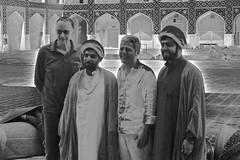 Iran 2017 - Ispahan (philippebeenne) Tags: iran perse mosquée mollah hommes blackandwhite