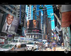 New York! New York! (tomraven) Tags: nyc tomraveninamerica aravenimage timessquare billboards people movement real unreal tomraven newyork cityscape q32017 fujifilm xt10 500px