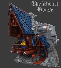 The Dwarf House (jaapxaap) Tags: lego dwarf house fantasy medieval castle blue brown beer furniture bed