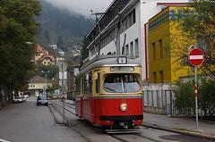 2014-10-26, Innsbruck, Falkstrasse (Fototak) Tags: tram strassenbahn lohner innsbruck austria ivb tmb 61