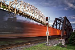 railroad swing bridge, sault ste. marie