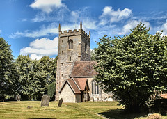 Studley, Warwickshire. Church of the Nativity of the Blessed Virgin Mary. 5 July 2017. (ricsrailpics) Tags: uk warwickshire studley parishchurch saxon tower 2017