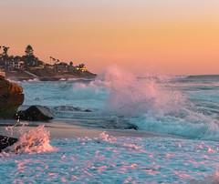 wave drama (Keegan L) Tags: sea beach wave lajolla sandiego nikon d810 swell