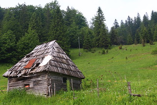 The old chalet in the Bosnian mountains- Romanija