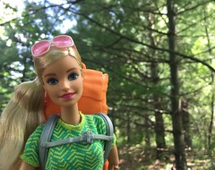 Back on the trail (Foxy Belle) Tags: doll barbie made move camping fun july 2017 backpack hike woods outside hiking summer forest