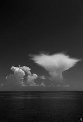 Natural explosion (tzevang.com) Tags: greece bw bythesea clouds seascape nature noiretblanc canon5d