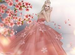 AZUL - Jaily gown for Miss SL Japan 2017 (Miss SL ♛ Japan 2017) Tags: misssljapan2017 azul magissadenver simone denversshapes sakura japanese cherry blossom tulle limitededition limited edition gown jailybailey jaily model modeling blog blogger blogging