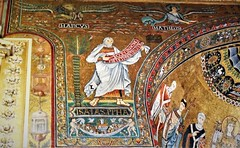 Isaiah Prophet and Marcus (Lion) al Matthew (Angel) Evangelists - Mosaics (about 1143) - Santa Maria in Trastevere Church in Rome (Carlo Raso) Tags: isaiah prophet marcus lion matthew angel evangelists mosaics santamariaintrastevere church rome