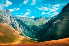 Valley (Igor Komissarov) Tags: valley mountain mountains sochi sky cloud colors clouds contrast nature landscape hill nikon russia caucasian abigfave